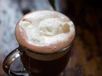 Milanese hot chocolate-coffee drink (Barbajada)