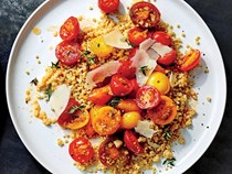 Millet and tomatoes