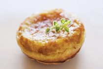 Miniature onion and goat cheese Tatins