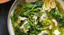 Miso-marinated pork and noodle soup