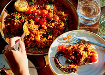 Mixed vegetable paella