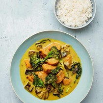 Mixed vegetable Thai green curry