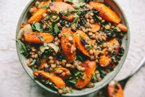 Moroccan carrot and lentil salad
