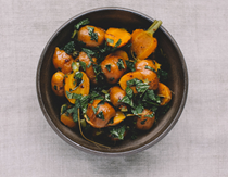 Moroccan carrots with Aleppo pepper and mint