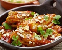 Moroccan chicken with saffron honey