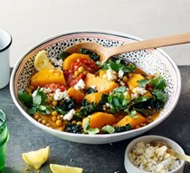 Moroccan chickpea, squash & kale stew