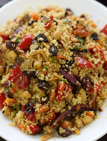 Moroccan couscous with roast vegetables