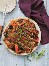 Moroccan-style brisket with dried fruits & capers