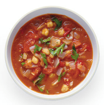 Moroccan style tomato soup with chickpeas