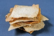 Olive oil and seed crackers
