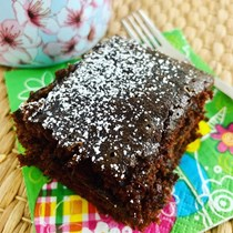 One bowl pantry chocolate snack cake