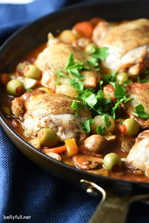 One-pan chicken cacciatore