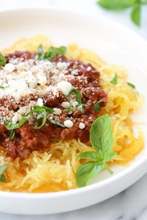 One-pot spaghetti squash and meat sauce (Pressure cooker and slow cooker)