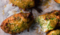 Ottolenghi's courgette and manouri fritters