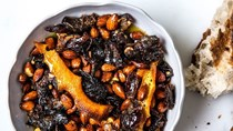 Oven-roasted dates and almonds