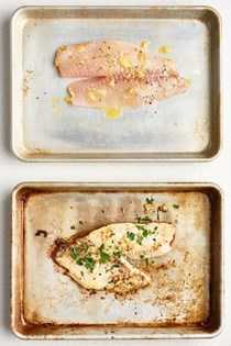 Oven-roasted garlic Parmesan tilapia