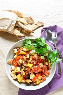 Oven-roasted ratatouille (Ratatouille confite au four)