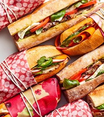 Pack and go hoagies with banh mi filling