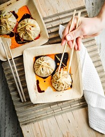 Pan-fried soup dumplings (Sheng jian bao)
