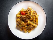 Pasta with Neapolitan beef and onion ragù (Pasta alla Genovese)