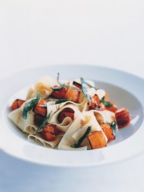 Pasta with pumpkin and sage brown butter