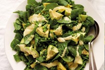 Pea, mint and avocado salad