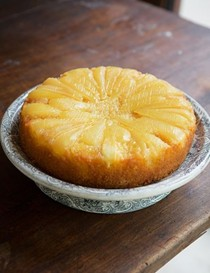 Pear & vanilla upside-down cake
