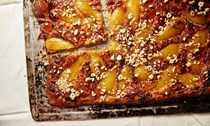 Pear and hazelnut galette