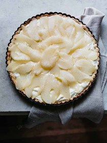 Pear ginger cream tart