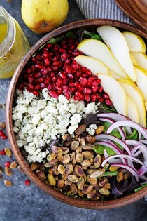 Pear pomegranate salad