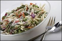 Penne with roasted vegetables