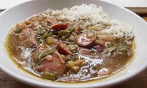 Perfect chicken and smoked sausage gumbo