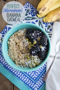 Perfect microwave banana oatmeal