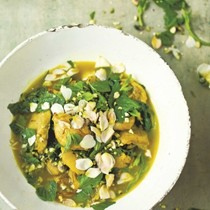 Persian chicken with pistachios and mint
