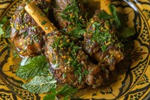 Persian-spiced lamb shanks