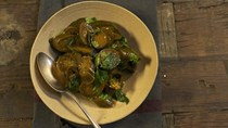 Pickled eggplants with black pepper and green chili