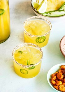 Pineapple jalapeño pitcher margaritas