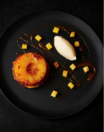 Pineapple upside-down cake with rum caramel [Marcus Wareing]