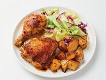 Piri piri chicken and potatoes