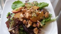 Plum chicken salad