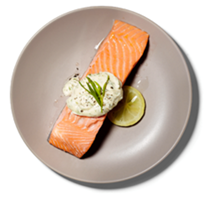 Poached salmon with tarragon mayonnaise
