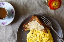 Poached scrambled eggs [Daniel Patterson]