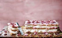 Pomegranate & rosewater mille-feuille