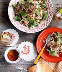 Pomelo, banana blossom and roast pork salad [Geoff Lindsay]