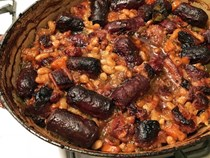 Pork belly and smoked sausage cassoulet