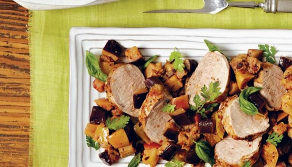 Pork Loin With Apples And Eggplant Recipe Eat Your Books