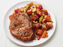 Pork with sweet-and-sour squash