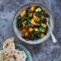 Potato, aubergine and spinach curry