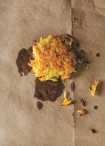 Potato-carrot latkes