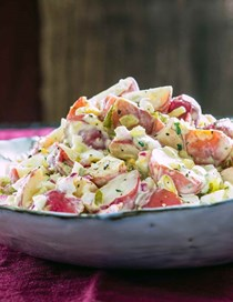 Potato salad with sweet pickle relish